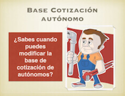 Modificar Base Cotización Autónomo