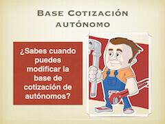 Base Cotización Autónomos
