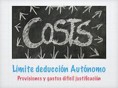 Deducción autónomos provisiones gastos dificil justificación