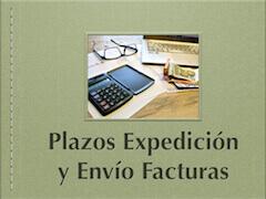 Plazo expedición y envío facturas