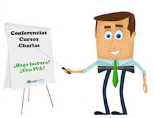 Facturación conferencias, cursos y charlas