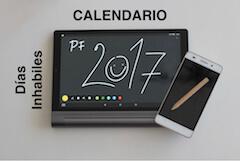 Calendario días inhábiles 2017 asepyme