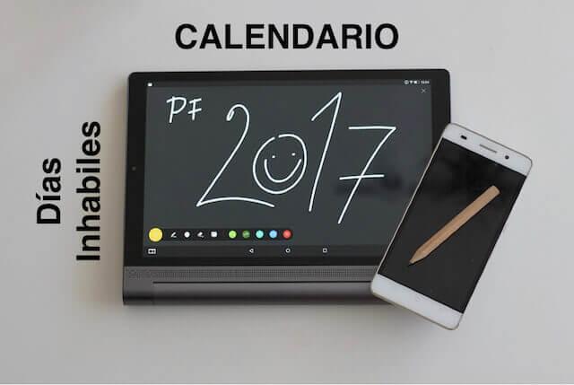 Calendario días inhábiles 2017