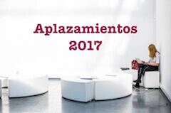Aplazamientos 2017 AEAT