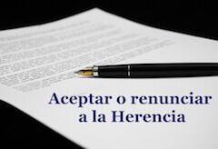 aceptacion o renuncia ala herencia