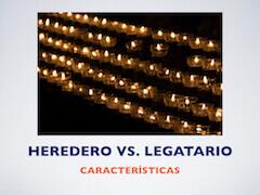 Caracteristicas heredero legatario