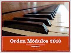 Novedades Orden Módulos 2018