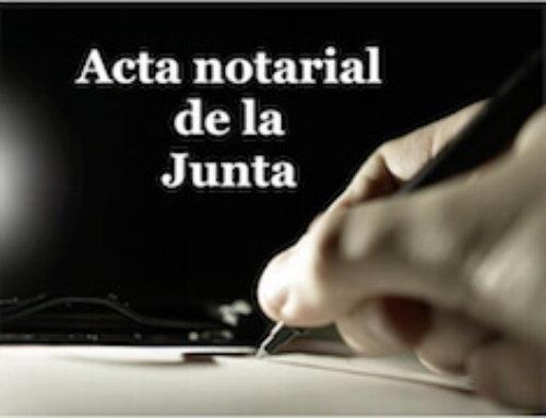 Resultado de imagen de EL ACTA NOTARIAL DE LA JUNTA GENERAL DE SOCIOS