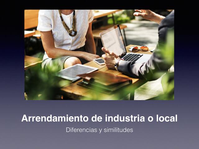 Alquiler local negocio - arrendamiento industria