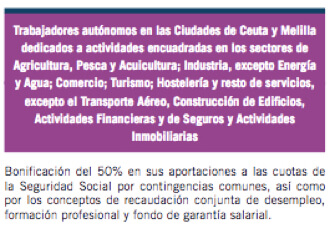 Trabajadores autónomos en las Ciudades de Ceuta y Melilla